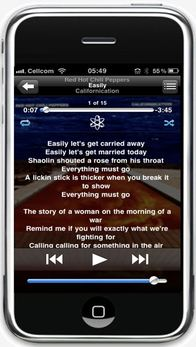 iPhone with Lyrics