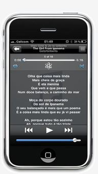 iPhone with lyrics and no Artwork